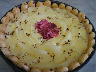 Image : Plat de mascarpone aux poires