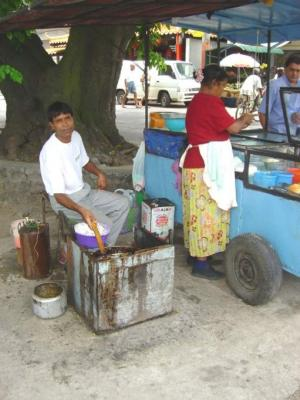 vendeur de bonbon piment