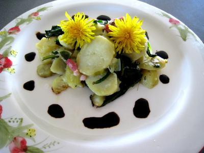 Image : Salade de pissenlits au lard à l'ardennaise