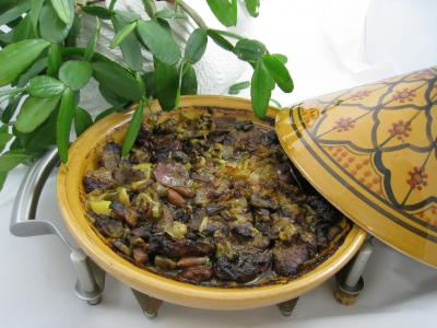 Recettes sans oeufs : Tajine aux restes de gigot faon marocaine