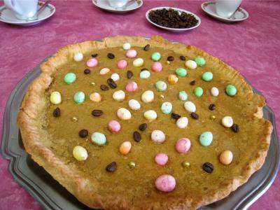 pâte sucrée : Assiette de tarte pascale au café