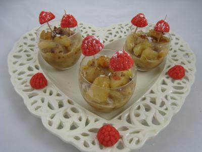 Image : recette Verrines de poires aux noix de cajou et aux amandes