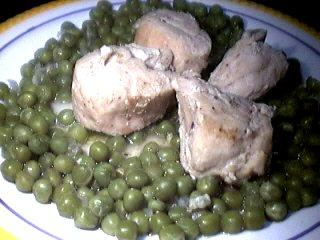 Image : Assiette de dinde aux petits pois