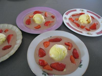 Image : recette Sauce glacée aux fraises