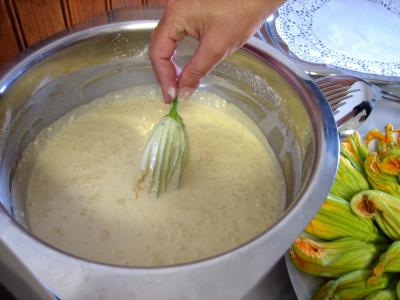 Tremper dans la pâte à frire