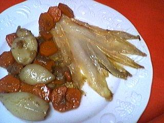 Image : recette Blancs d'encornets aux carottes