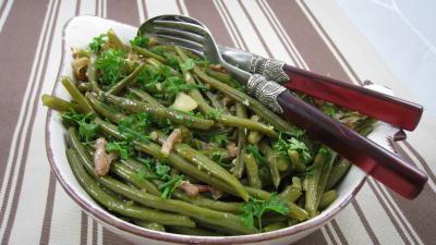haricots verts aux lardons