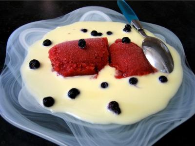 Recette Coupe de sorbet aux fraises