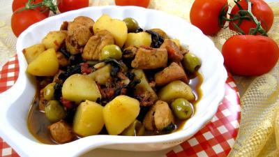 sucre entier : Saladier de blancs de poulet bastiaise façon Corse