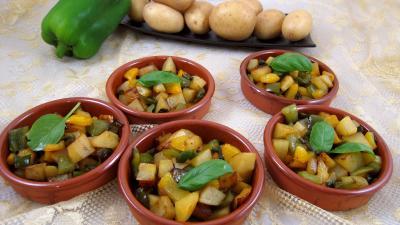 piment de Cayenne : Cassolettes de pommes de terre aux poivrons