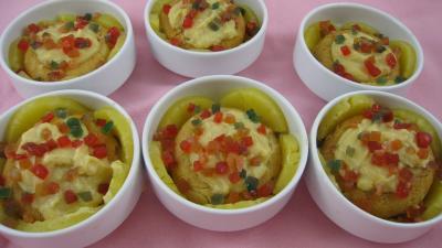 Recette Cassolettes de baba à l'ananas