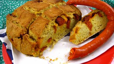 Photo : Pain au chorizo