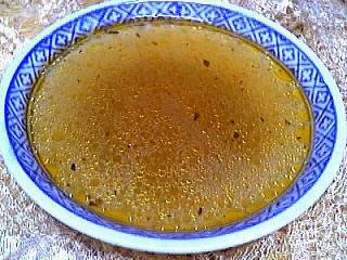 Carcasse de canard : Assiette de bouillon
