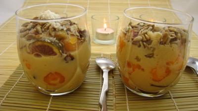 recette à la bière : Verrines de blanquette de figues à la bière et au coco