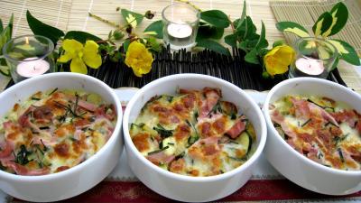 cassolette : Cassolettes de blé aux courgettes