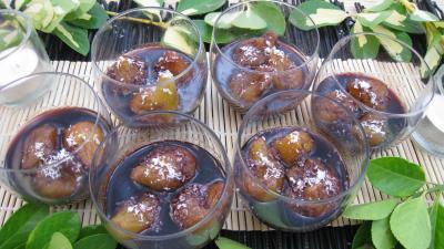 vin rouge : Verrines de figues au vin rouge