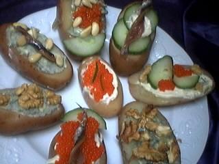 Image : Assiette de canapés aux pommes de terre