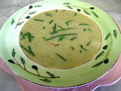 Recette Assiette de velouté d'orties aux légumes