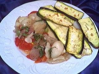 Image : Assiette de calamars aux poivrons