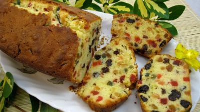 Image : recette Cake aux fruits confits