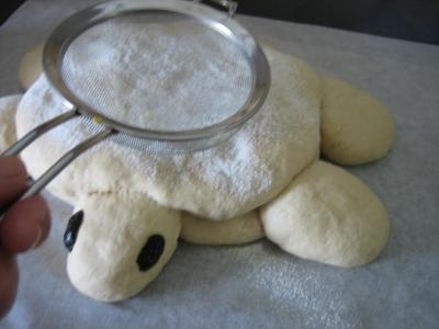 Pain aux oignons en forme de tortue - 14.1