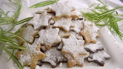 sablés : Plat de biscuits sablés de noël