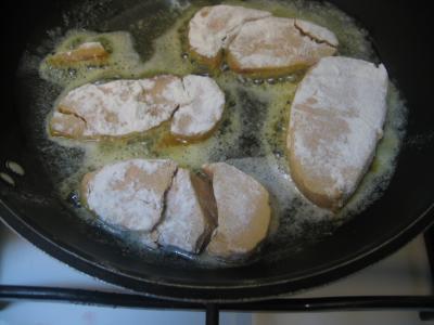 Foie gras sauce aux airelles et poireaux - 6.3