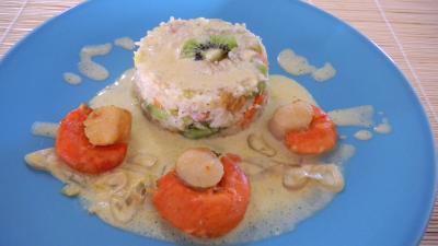 safran : Assiette de Saint-Jacques au safran