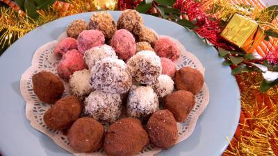 Recette Assiettes de truffes au chocolat