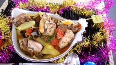Recette Saladier de ragoût de lapin