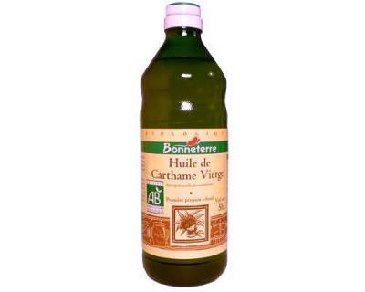 Photo : Bouteille d'huile de Carthame