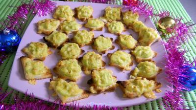 chou de bruxelles : Assiette de canapés aux choux de Bruxelles