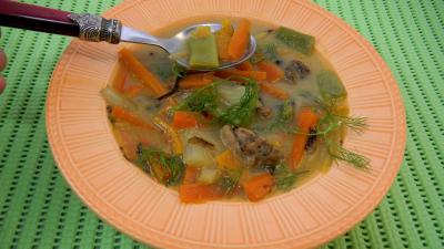 Image : Assiette de carottes au ris de veau