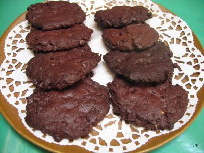 Image : Assiette de cookies au chocolat et pépites