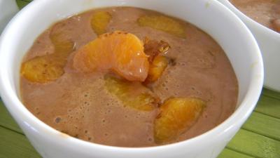Image : Bol de clémentines caramélisées au marscarpone et au cacao