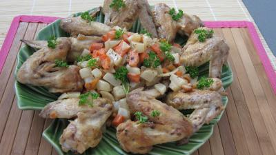 Photo : ailerons de poulet sauts aux navets