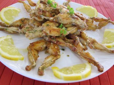 Recette assiette de cuisses de grenouilles aux fines herbes
