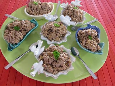 Photo : Le hachis de foie de poulet