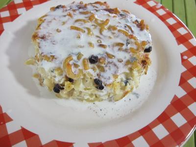 pâtes alimentaires : Assiette de coquillettes à la ricotta et à la juive