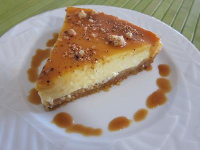 Recette Tranche de cheese cake au caramel