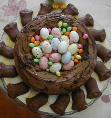 gâteau au chocolat : Nid de Pâques