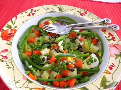 Recette saladier de salade et sauce au parfum de Russie