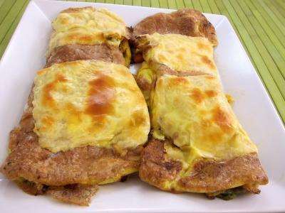 omelette aux carottes et légumes