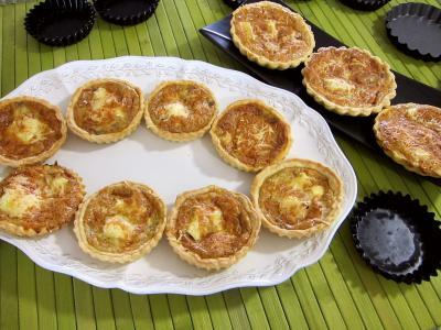 Recette Des tartelettes au brie et au jambon