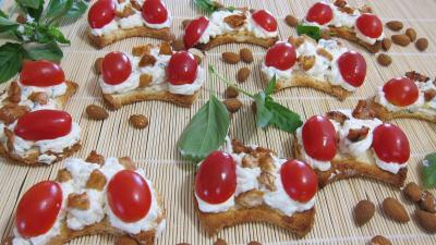 fixe chantilly : Croissants aux amandes à la ricotta