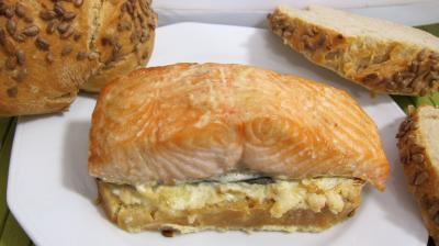 sauce hoisin : Assiette de bruschetta de saumon