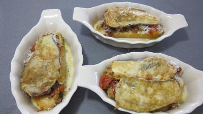 crostinis d'aubergines