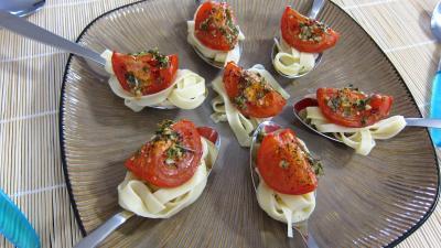 Recette Assiette d'antipastis à la tomate
